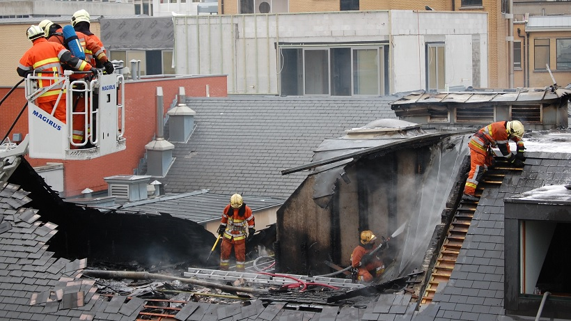 Attention aux risques d'incendie lors des travaux en toiture !